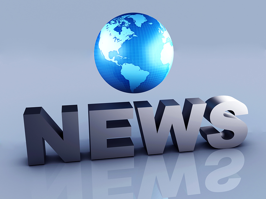 image of globe with word News 3d illustration